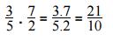 Producto y cociente de fracciones