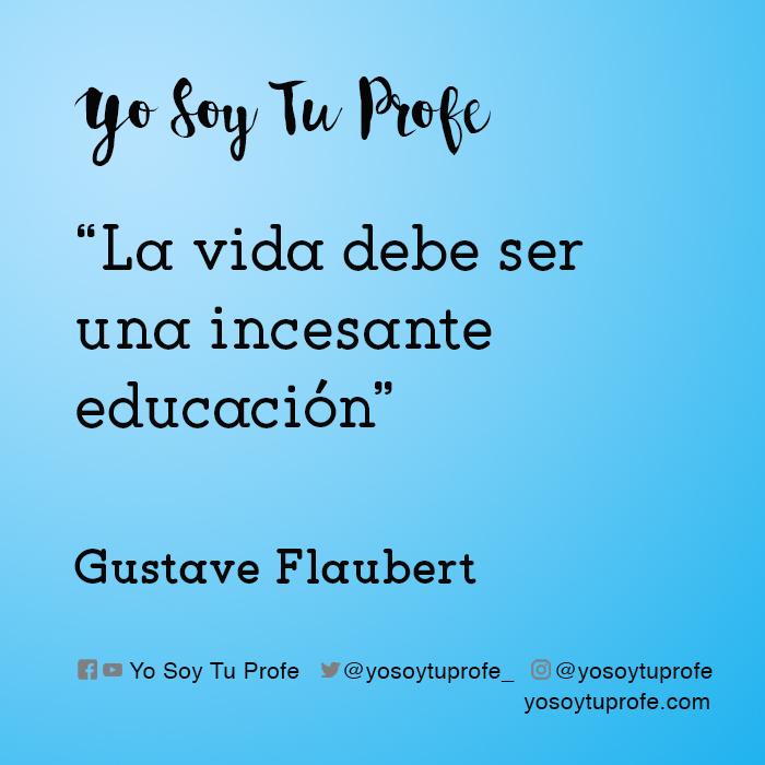 gustave flaubert citas sobre educación