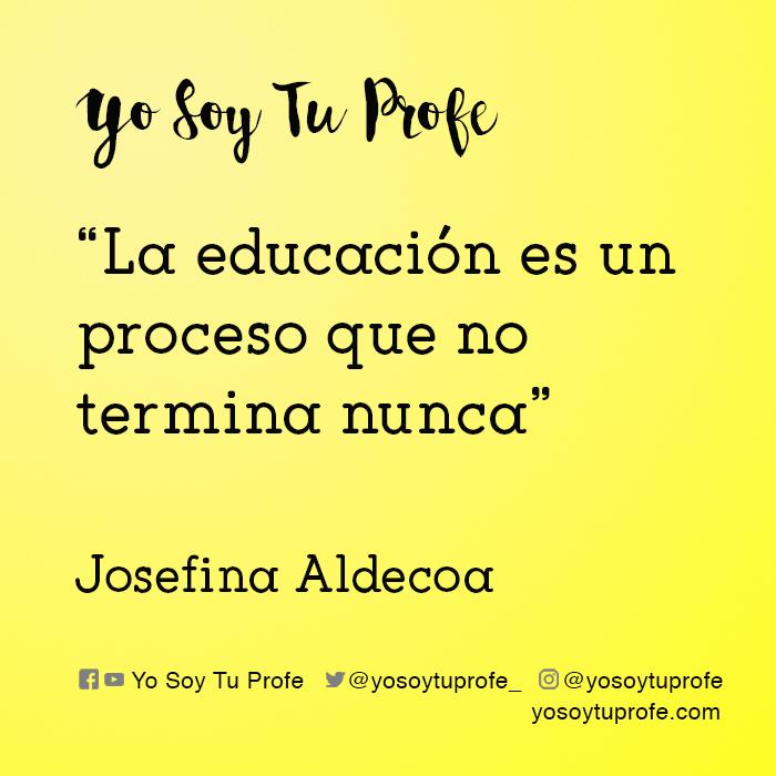 josefina aldecoa citas sobre educación