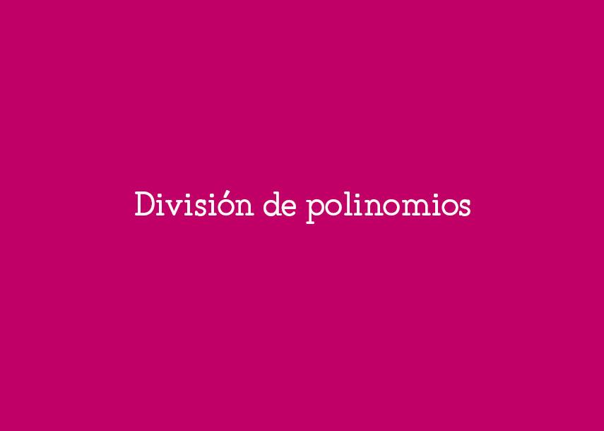 divisiondepolinomios