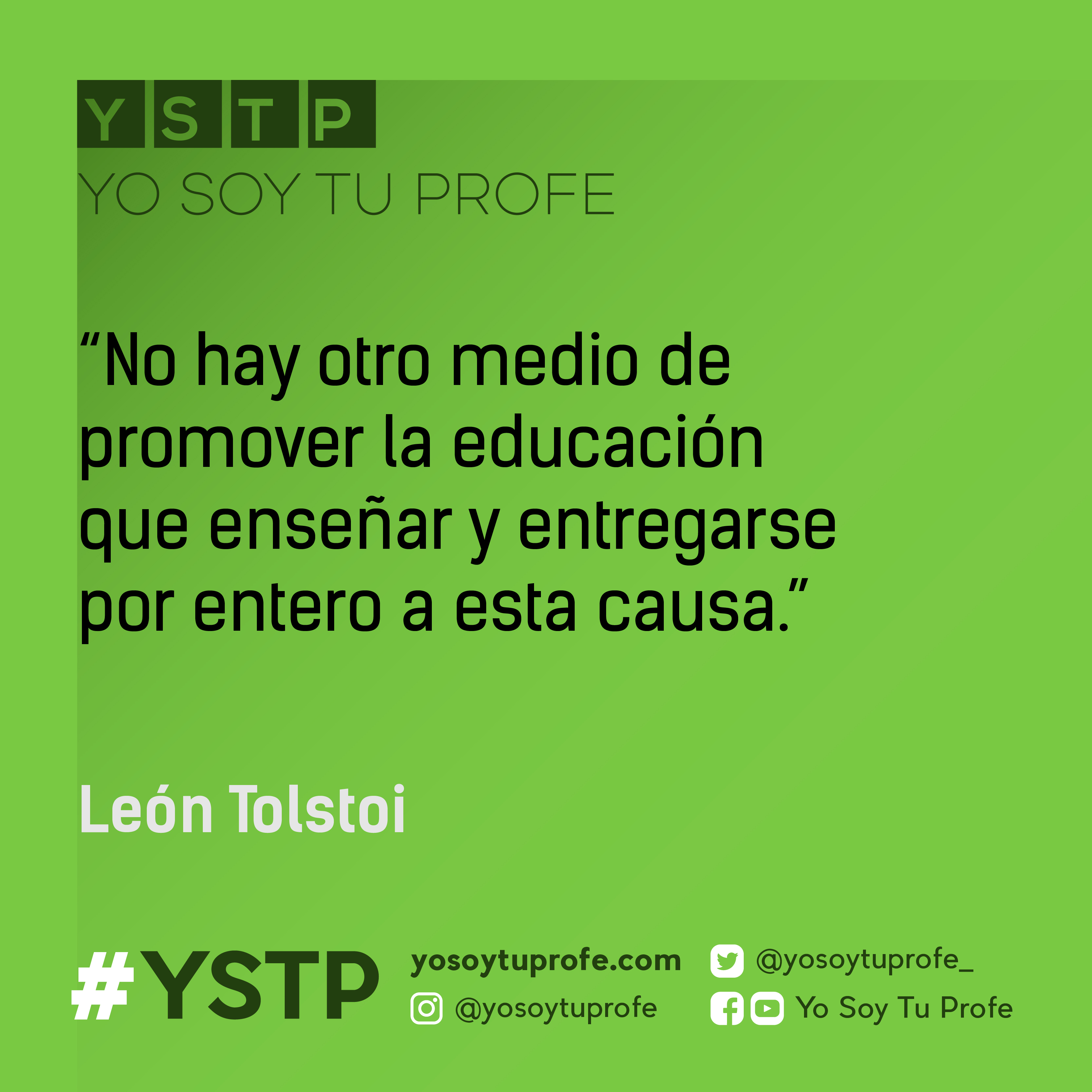 citas de Tolstoi yo soy tu profe