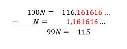 Fracción generatriz decimal periodico puro ystp