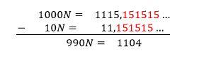 Fracción generatriz decimal periodico mixto ystp