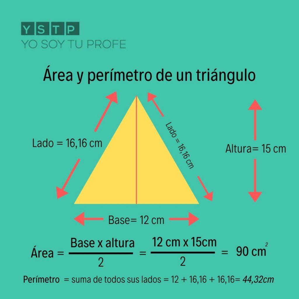 Sabes Calcular El área Y El Perímetro De Un Triángulo Yo Soy Tu Profe