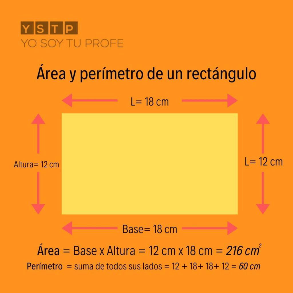 Resultado de imagen de área de un rectángulo