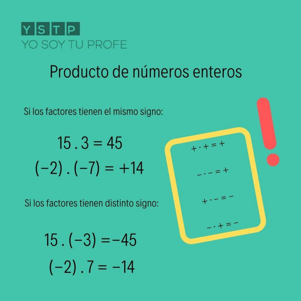 Producto de números enteros