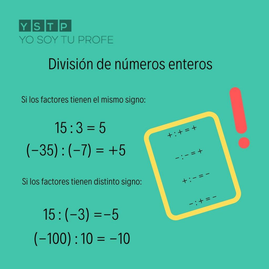 división de números enteros