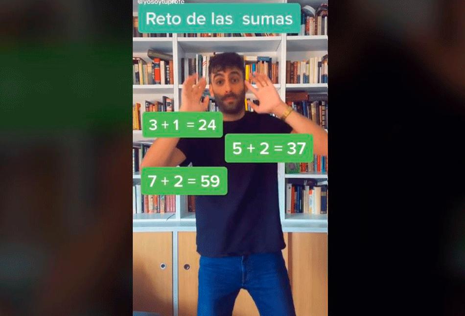 retos matemáticos de TikTok