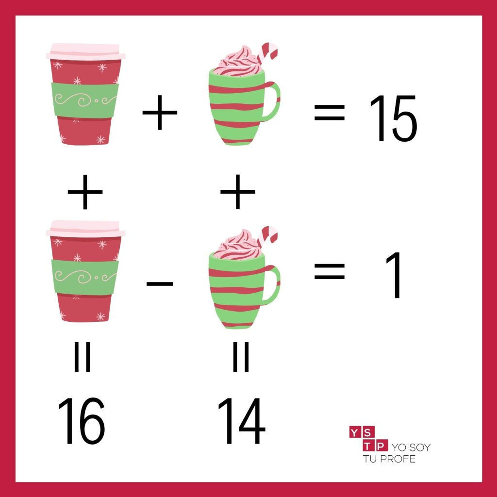 acertijos matemáticos navideños
