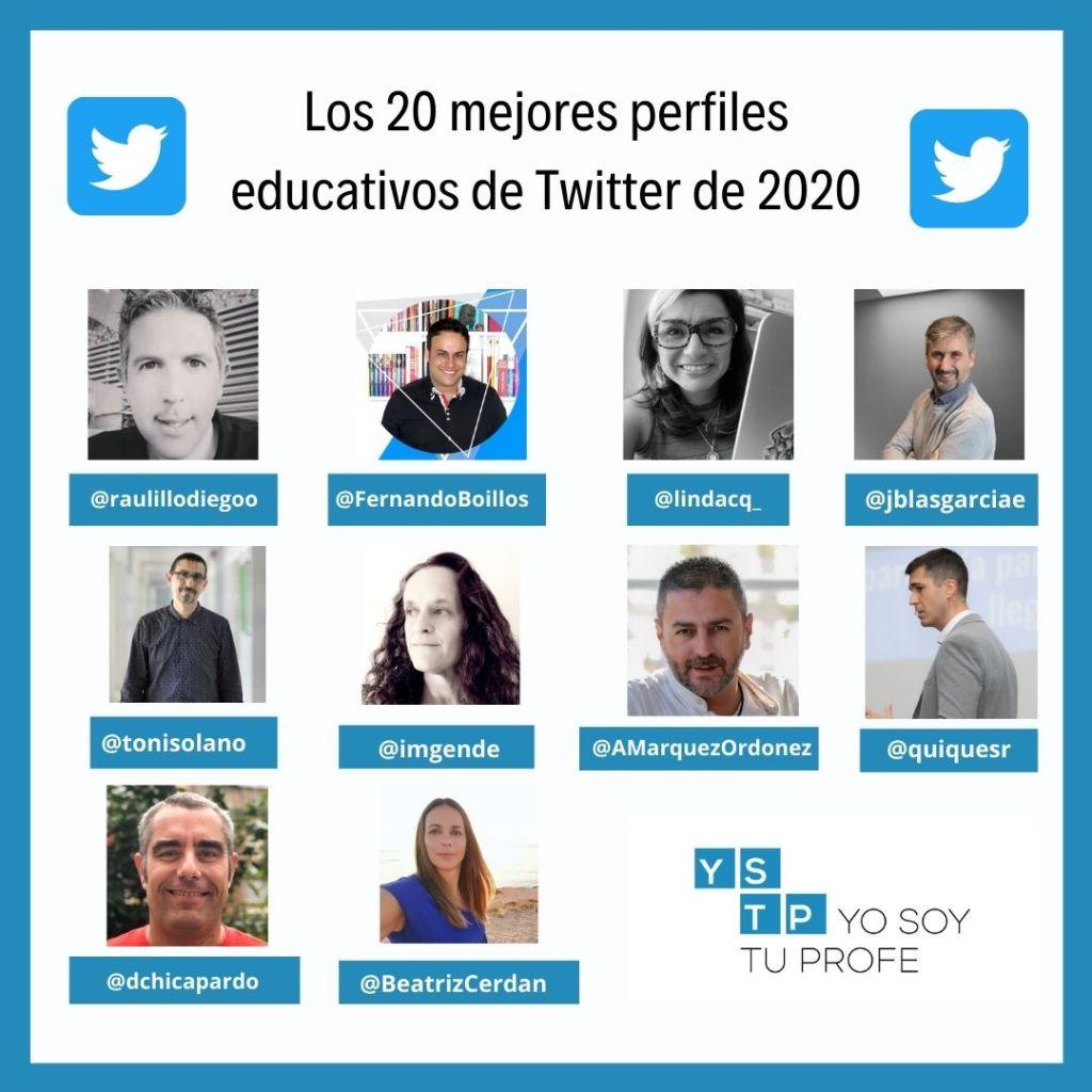 perfiles educativos de Twitter
