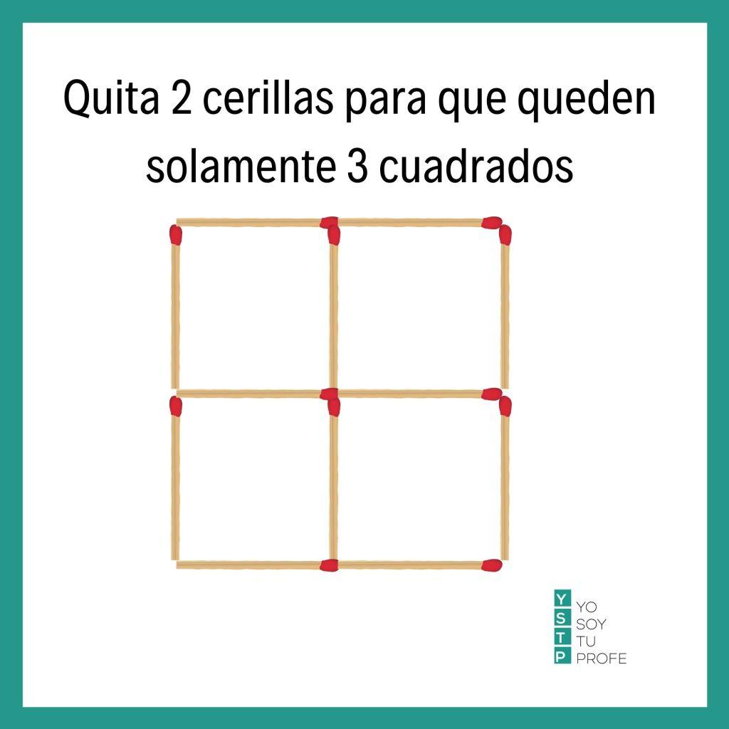 retos matemáticos con palillos