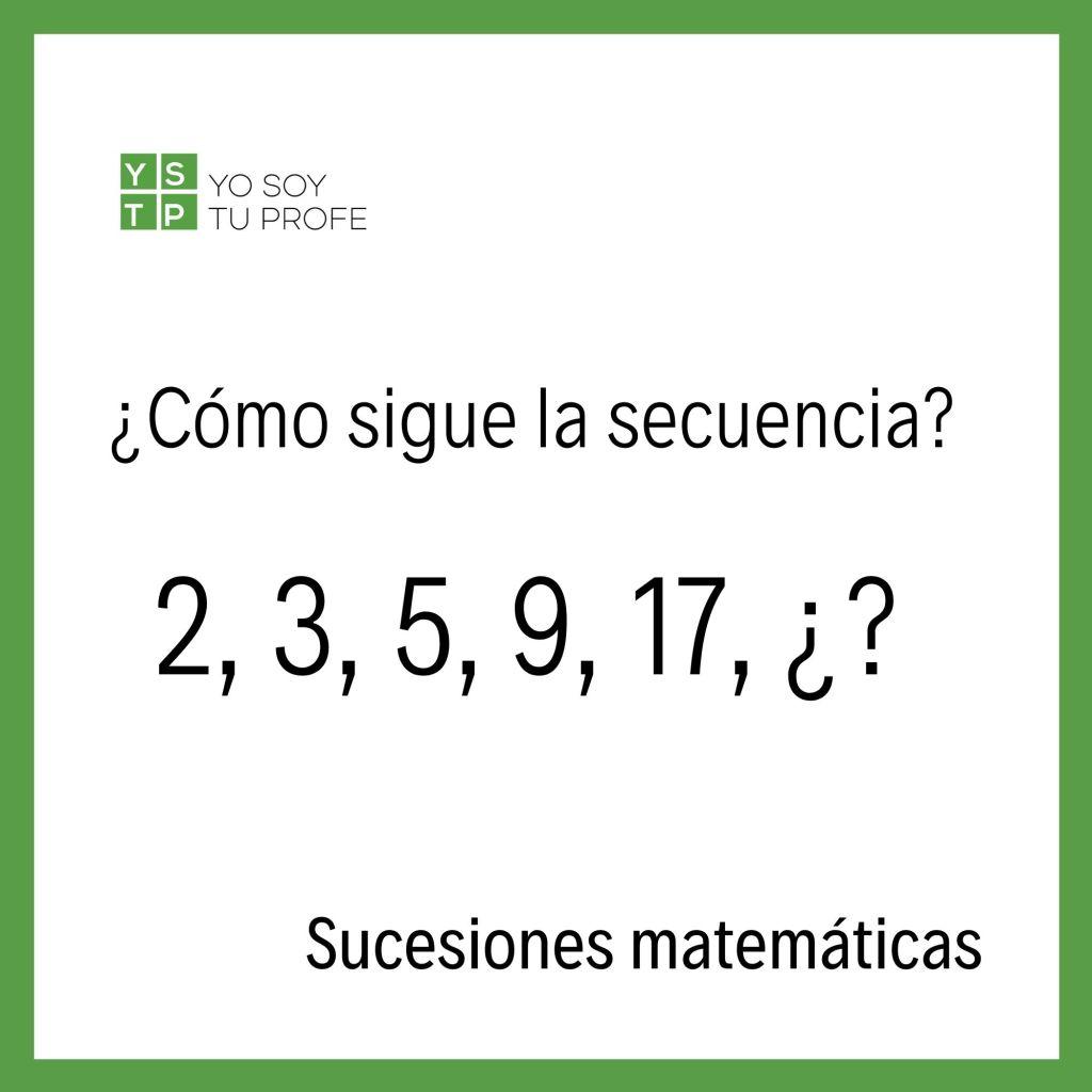 sucesiones matemáticas
