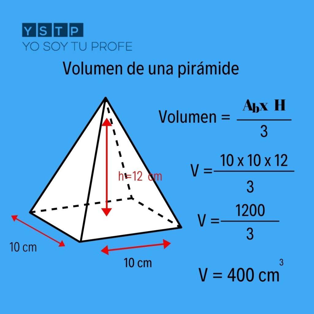 volumen de una pirámide
